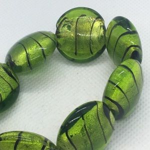 4 for $12: Green Bead Bracelet